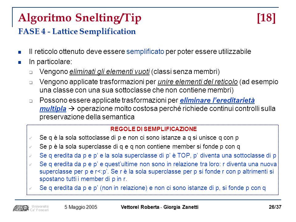 Algoritmo Snelting/Tip [18]